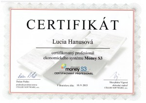 Certifikat Money